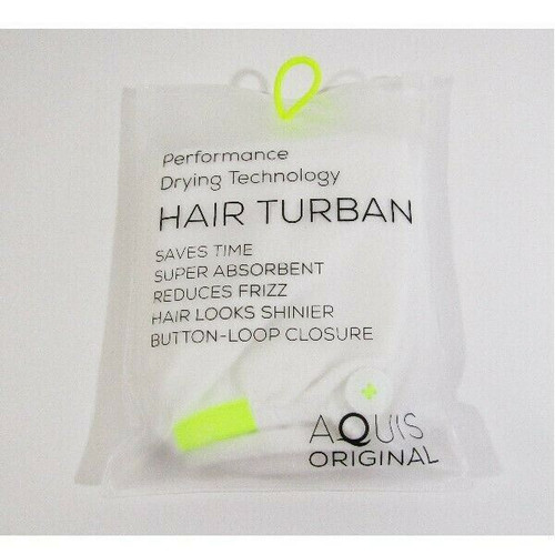 Aquis Original Performance Drying Technology Hair Turban **NEW IN PACKAGE**