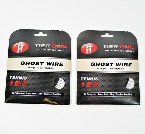 2 Packs of Tier One Ghost Wire Super Soft Co-Poly Tennis String - NEW SEALED
