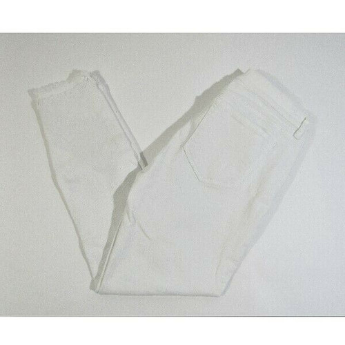 Loft by Ann Taylor Women's White Fringe Skinny Jeans Size 2/26 *Has Stain
