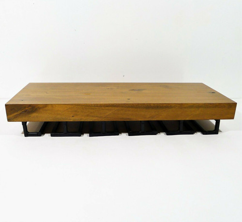 Pottery Barn Rustic Wood Floating Wine Glass Shelf LOCAL PICK UP AUSTIN, TX ONLY