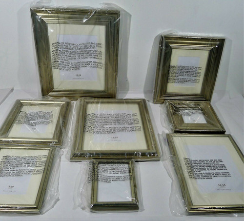 8 Piece Pottery Barn Picture Frame Set 05861807 - LOCAL PICKUP ONLY, AUSTIN TX