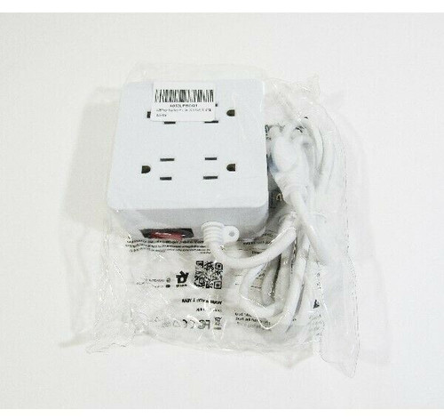 Superdanny White 4 Outlet & 4 USB Power Strip **NEW IN PACKAGE**