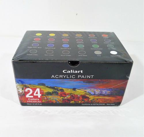 Caliart Acrylic Paint 24 Colors Premium - NEW SEALED