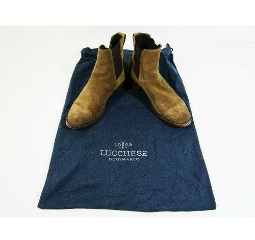 Lucchese Bootmaker Men's Grayson Suede Chelsea Boots Size 8.5