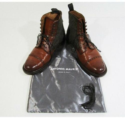 Antonio Maurizi Men's Leather Lace Up Oxford Boots Size 41.5 (U.S. 8.5)