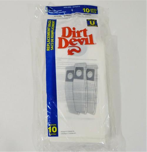 10-Pack Dirt Devil Type U Vacuum Bags 3-920048-001 - NEW
