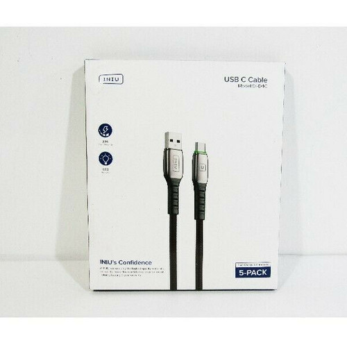INIU 5 Pack Fast Charge & Data Sync USB C Cables **NEW IN PACKAGE**