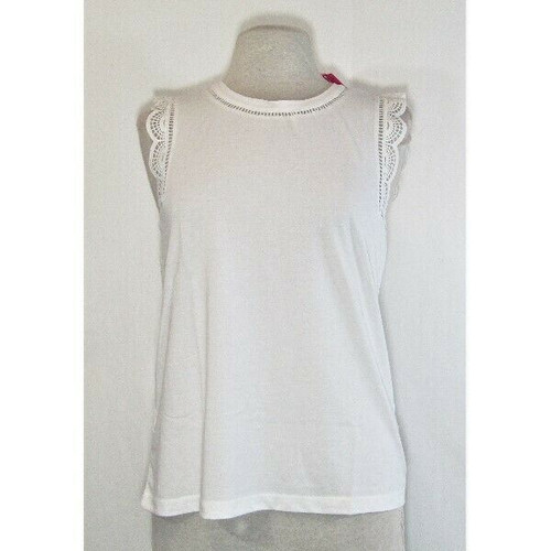 Lilly Pulitzer Women's White Agee Tank Top Size M **Has Stain **NEW WITH TAGS