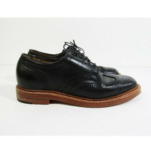 Oak Street Bootmakers Men's Black Double Sole Wingtip Shoes Size 8.5