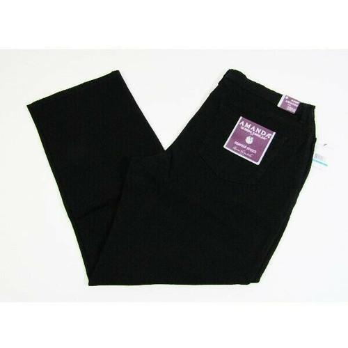 Gloria Vanderbilt Women's Black Classic Rise Amanda Jeans Size 16 Short **NWT**