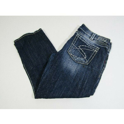 Silver Jeans Women's Dark Wash Santorini Capri Pants Size W34 *Has Stain