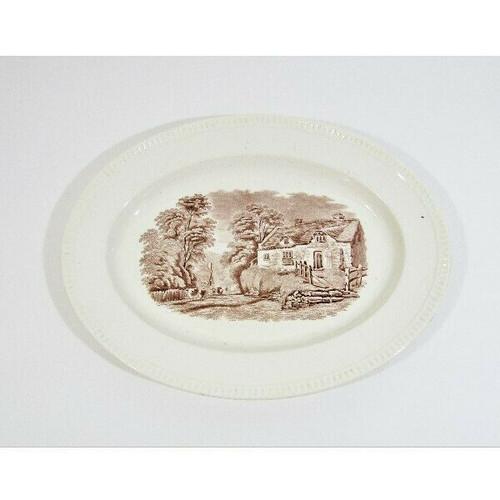 """W.T. Copeland & Sons Stoke Upon Trent Oval Dinner Platter 13"""" x 10"""""""