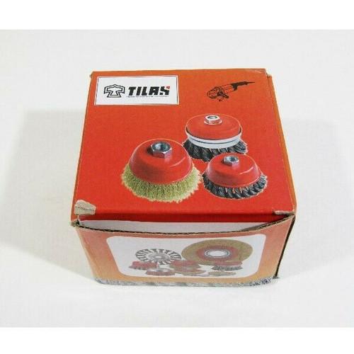TILAX Wire Brush Wheel Cup Brush Set 6 Piece **NEW, OPEN BOX**