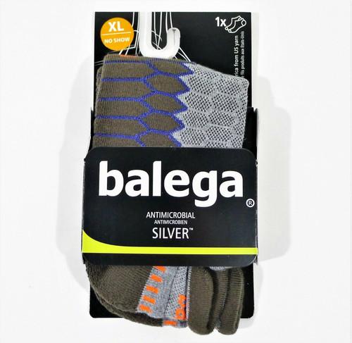 1 Pair Balega Men/Women's Silver No-Show Compression-Fit Running Socks Size 1X