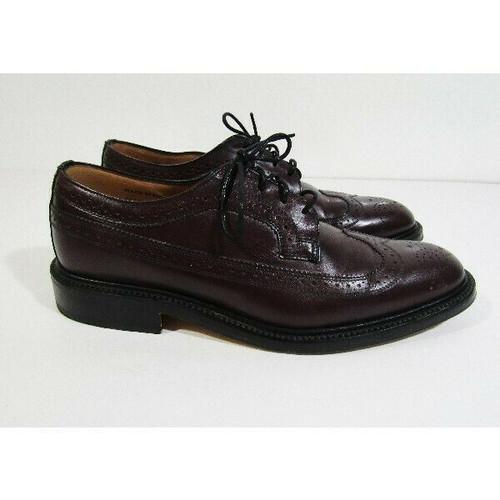 Sanders Diplomat Collection Men's Dark Burgundy Leather Berne Shoes Size 8.5