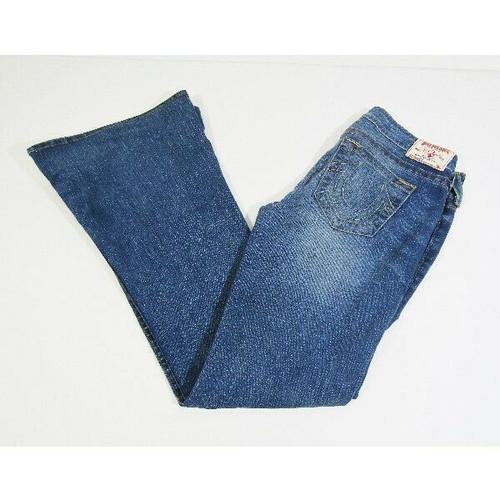 True Religion Women's Medium Wash Bell Bottom Jeans Size 30