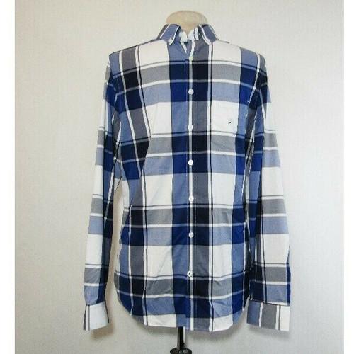 Express Men's Blue & White Plaid Extra Slim Button Down Dress Shirt Size M **NWT
