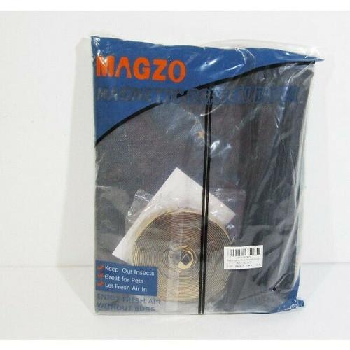 """Magzo Gray Magnetic Screen Door, Reinforced Fiberglass Mesh 38"""" x 99"""" **NEW**"""