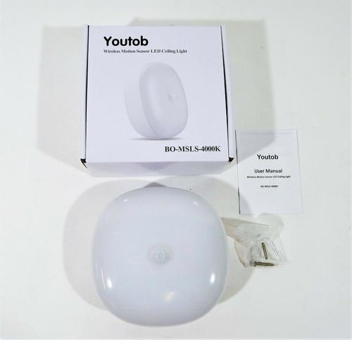 Youtob Wireless Motion Senson LED Ceiling Light BO-MSLS-4000K - OPEN BOX