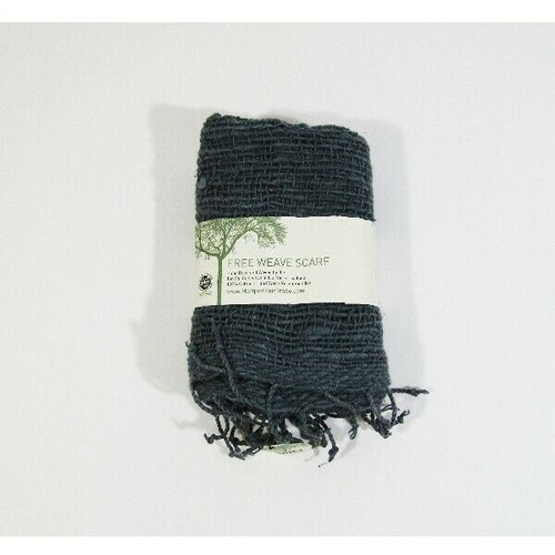 Marquet Fair Trade Women's Hand Dyed Teal Free Weave Scarf **NEW WITH TAGS**