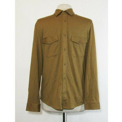 Express Men's Brown Slim Long Sleeve Button Up Shirt Size S **NEW WITH TAGS**