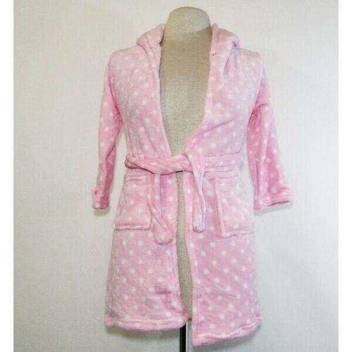 Doctor Unicorn Girls Pink & White Polka Dot Robe 6-7 Years **NEW IN PACKAGE**