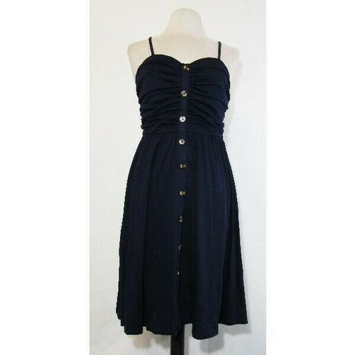Drimmaks Women's Navy Blue Sleeveless Sun Dress Size M **NEW IN PACKAGE**