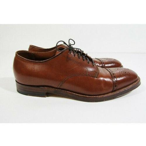 Alden Bootmaker Edition Men's Medallion Tip Blucher Oxford Shoes Size 8.5 B/D