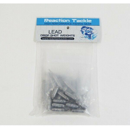 Reaction Tackle Lead Drop Shot Fishing Weights 30 Pc Variety Pack NEW IN PACKAGE