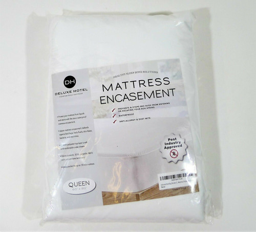 """CrystalTowel Deluxe Hotel Zippered Mattress Encasement Queen 60"""" x 80"""" - NEW"""