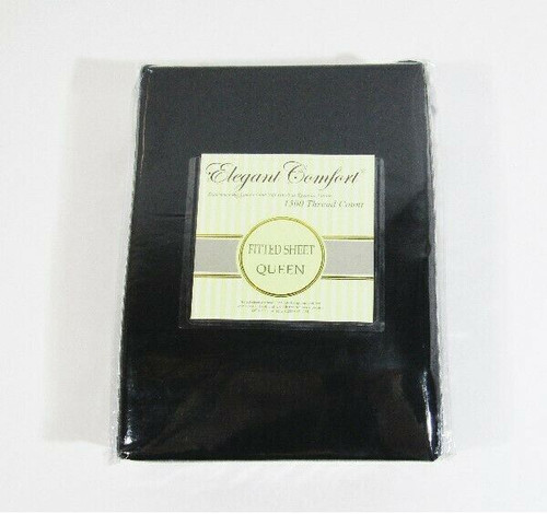 Elegant Comfort 1500 Thread Count Black Fitted Queen Sheet **NEW IN PACKAGE**