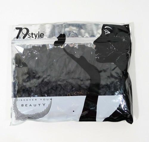 79 Style Black 200 Pieces Elastics Hair Ties Ponytail Holders - NEW SEALED
