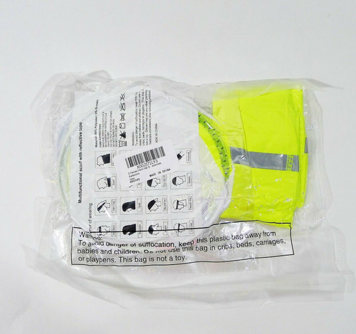 Hard Hat Multifunctional Scarf with Reflective Tape KK0340 - NEW