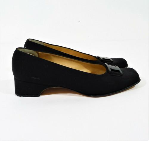 Salvatore Ferragamo Women's Black Fabric Heels Dress Shoes Size 8.5 B