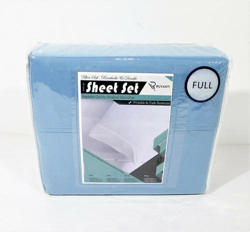 Ruvanti Full Size Superior Quality Brushed Microfiber Sheet Set - NEW