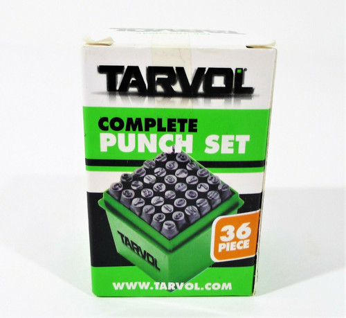 Tarvol Complete Number Letter Stamp Set 36 Piece Punch Set/A-Z & 0-9 - OPEN BOX