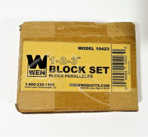 2 Count WEN 123 Block Set Steel-Hardened Precision Model 10423 - NEW