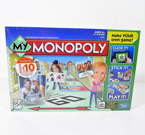 Hasbro My Monopoly Make Your Own Board Game - NEW SEALED **EXPIRED SHUTTERFLY