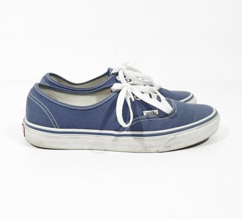 Vans Off the Wall Unisex Blue Lace Up Skateboard Shoes TB8C Men 9 Women 10.5