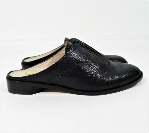 Louise et Cie Women's Black Pebbled Leather LoFreyda Mules Flats Shoes Size 8.5M
