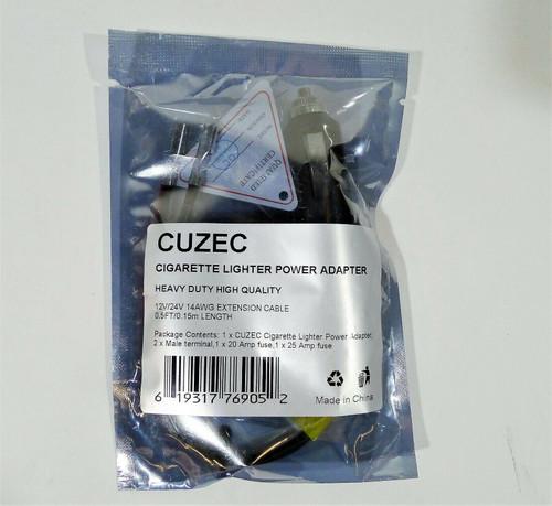 Cuzec 14AWG 12V Cigarette Lighter Power Adapter - NEW SEALED