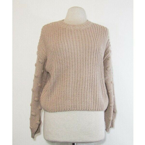 Moon & Madison Women's Mauve Chunky Knit Pullover Sweater Size S **NEW WITH TAGS