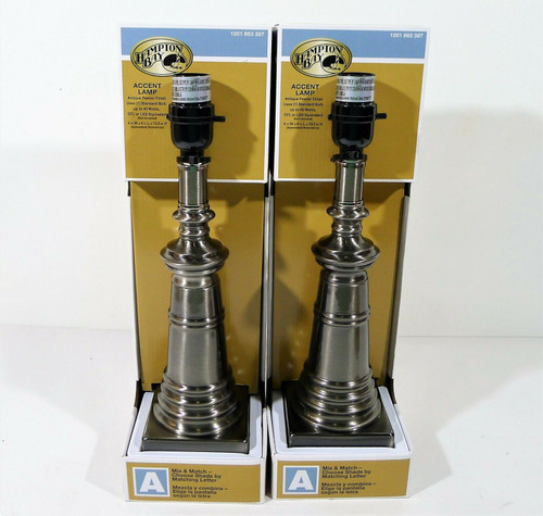 Set of 2 Hampton Bay Accent Lamps - NEW **NO SHADES