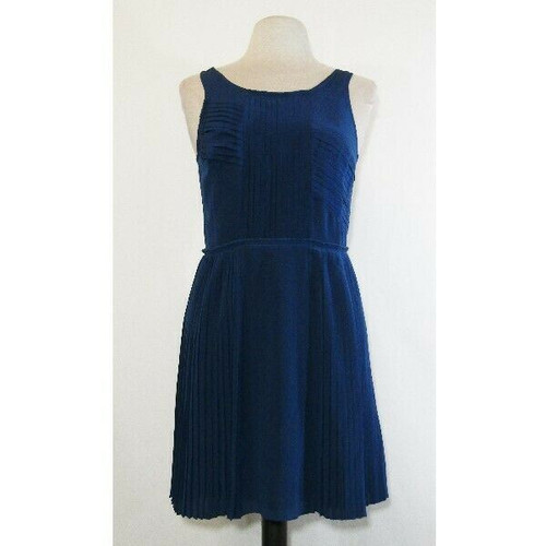 Madewell Broadway & Broome Women's Blue Pleated Dress Size 6 **NWT, SEE DESCR.
