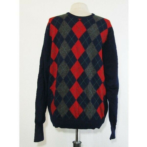 Barrie for Burberrys Men's Wool Plaid Sweater See Descr. for Size **HAS HOLE**