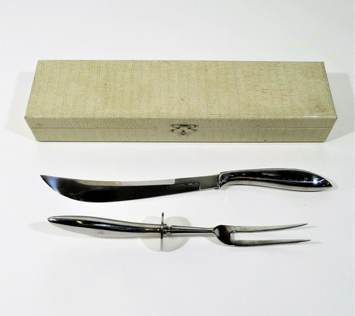 Stainless Steel Carving Set Made In Japan in Case Knife and Fork