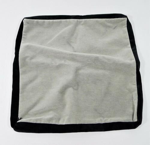 """CB2 Bardo Light Gray Velvet Pillow Cover Only 18"""" x 18"""" 318-855 - **SEE DESCR."""