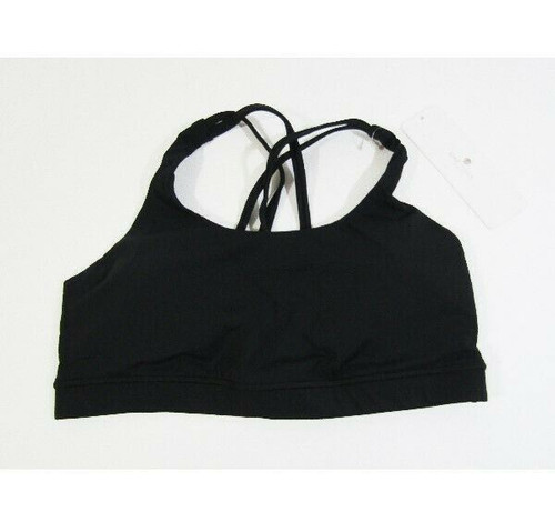 CRZ Yoga Women's Black Strappy Yoga Bra Size M **NEW WITH TAGS**