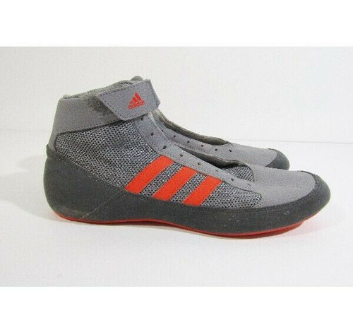 Adidas Men's Gray & Orange Havoc Wrestling Shoes Size 9.5 **NO LACES**