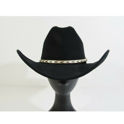 Pigalle Texas Hat Company INC. Men's Black Felt Western Hat Size 7 U.S/56 Mexico